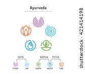 ayurveda vector illustration... | Shutterstock .eps vector #421414198