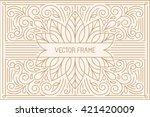 vector poster design template... | Shutterstock .eps vector #421420009