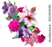 Floral Design Artistic Work Tropical - Fine Art prints
