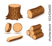 cutting wood elements | Shutterstock .eps vector #421426600