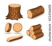 cutting wood elements | Shutterstock .eps vector #421426600