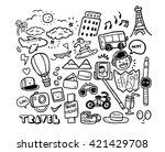 travel doodles | Shutterstock .eps vector #421429708