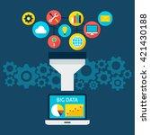 sales funnel big data flat...   Shutterstock .eps vector #421430188