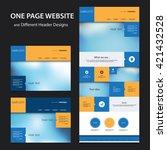 one page website design... | Shutterstock .eps vector #421432528