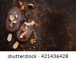 classic chocolate ice cream...   Shutterstock . vector #421436428