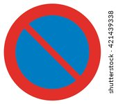 prohibitory sign. no parking. | Shutterstock . vector #421439338