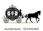 carriage with a horse and... | Shutterstock .eps vector #421441060