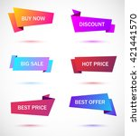 vector stickers  price tag ... | Shutterstock .eps vector #421441570