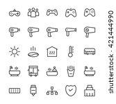 hotel outline vector icons 5 | Shutterstock .eps vector #421444990