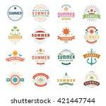 summer holidays typography set  ... | Shutterstock .eps vector #421447744