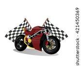super sport extreme red bike... | Shutterstock .eps vector #421450369
