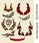 tattoo set.set contains images... | Shutterstock .eps vector #421451164
