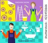 logo home remodel  plumbing ... | Shutterstock .eps vector #421453666