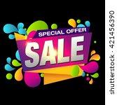sale. offer. | Shutterstock .eps vector #421456390
