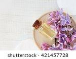 relaxing essential oil  fresh... | Shutterstock . vector #421457728