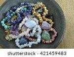 healing properties of gemstones ... | Shutterstock . vector #421459483