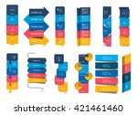 big set of infographics step by ... | Shutterstock .eps vector #421461460