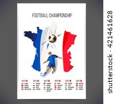 euro 2016 france football... | Shutterstock .eps vector #421461628