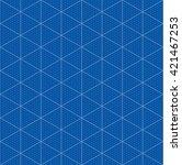 isometric graph paper for 3d... | Shutterstock .eps vector #421467253