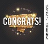 congrats. congratulations gold... | Shutterstock .eps vector #421468048