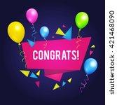 congrats. congratulations... | Shutterstock .eps vector #421468090