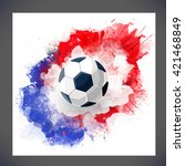 euro 2016 france football... | Shutterstock .eps vector #421468849
