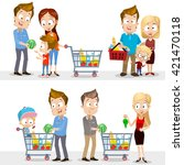 collection of vector people in... | Shutterstock .eps vector #421470118