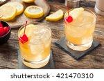 homemade whiskey sour cocktail... | Shutterstock . vector #421470310