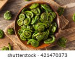Raw Organic Green Fiddlehead...