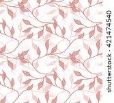 leaves seamless pattern   Shutterstock .eps vector #421474540