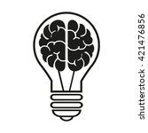 light  bulb with a brain icon.... | Shutterstock .eps vector #421476856