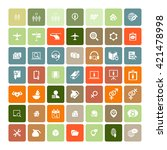 set of 49 universal icons.... | Shutterstock .eps vector #421478998