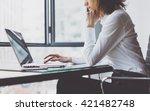 working process in modern... | Shutterstock . vector #421482748