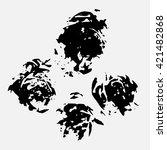 hand drawn brush stroke vector... | Shutterstock .eps vector #421482868