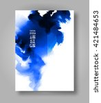 Abstract Stylish Brochure Blue...