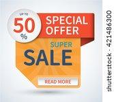 super sale banner. special... | Shutterstock .eps vector #421486300