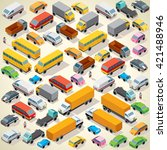 isometric cars. various... | Shutterstock . vector #421488946