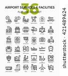 airport services and facilities ...   Shutterstock .eps vector #421489624
