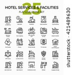 hotel services and facilities... | Shutterstock .eps vector #421489630