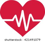 heart with frequency | Shutterstock .eps vector #421491079