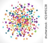 abstract colorful alphabet...   Shutterstock .eps vector #421493128