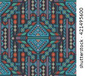 vector tribal mexican vintage... | Shutterstock .eps vector #421495600