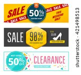 set of sale banners design.... | Shutterstock .eps vector #421498513