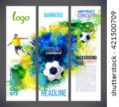 banners with with football... | Shutterstock .eps vector #421500709