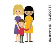 female gay family with child.... | Shutterstock .eps vector #421500754