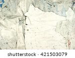 old posters   ripped paper  ... | Shutterstock . vector #421503079