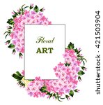 card with flowers in vintage... | Shutterstock . vector #421503904