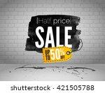 vector half price sale...   Shutterstock .eps vector #421505788
