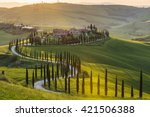 panoramic view of a spring day... | Shutterstock . vector #421506388