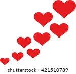 heart logo with flying hearts | Shutterstock .eps vector #421510789